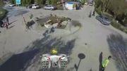 تصویربرداری هوایی اصفهان(clip12)کمپ نوروزی باغ فدک اصفهان