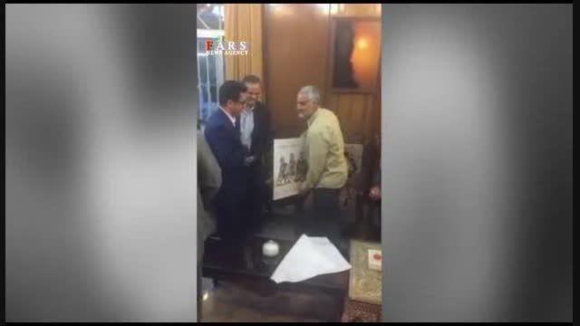 هدیه یک هنرمند(محمدصالح رزم حسینی) به حاج قاسم سلیمانی