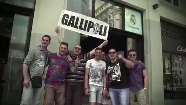 طرفداران یوونتوس در شهر مادرید(اسپانیا)