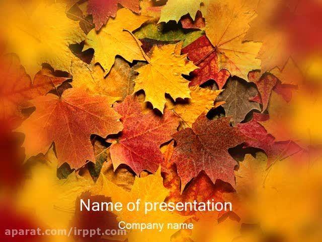 دانلود رایگان تم پاورپوینت Autumn