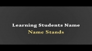 Name stand - Learning students name - Ganj