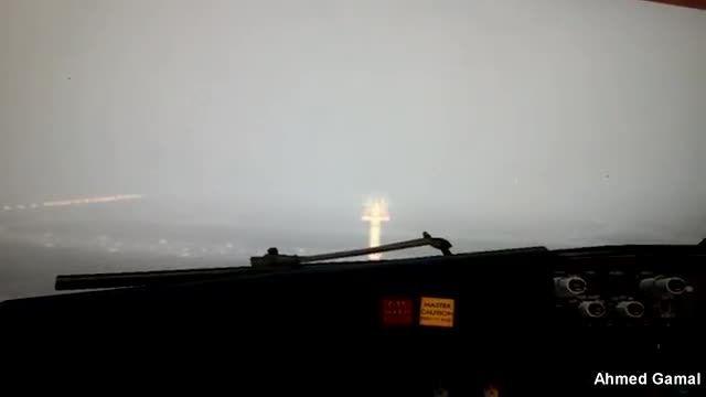 فرود زیبا در شرایط جوی مه آلود