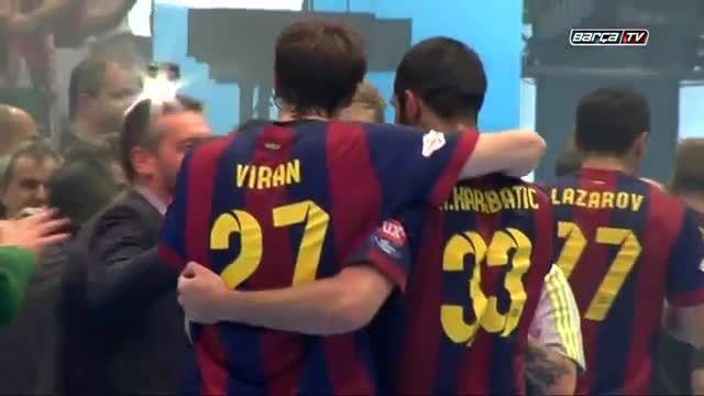 جشن قهرمانی هندبال تیم بارسلونا در اروپا (کامل)