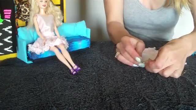 آموزش درست کردن دامن برای عروسک باربی