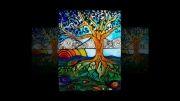 آموزش موزاییک و نقاشی روی شیشه