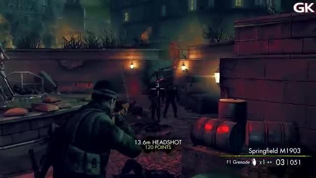 گیم پلی بازی Sniper Elite: Nazi Zombie Army 2