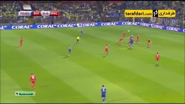 خلاصه بازی بوسنی 2 - 0 ولز