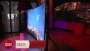 تلویزیون 105 اینچی خمیده و 4k سامسونگ : قیمت 120 هزار $