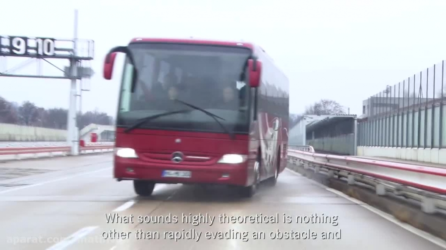 آزمایش رانندگی اتوبوس مرسدس بنز Tourismo