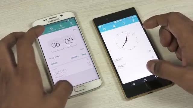 Sony Xperia Z5 vs Samsung Galaxy S6_Apps Speed Test