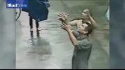 نجات جان کودک توسط مرد غریبه