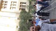 سقوط دکل مخابراتی میدان فاطمی