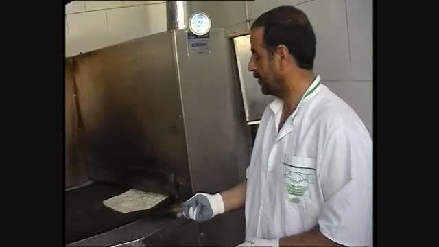 پخت نان لواش آذری
