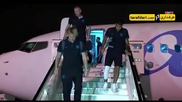 بازگشت بازیکنان بارسلونا به اسپانیا