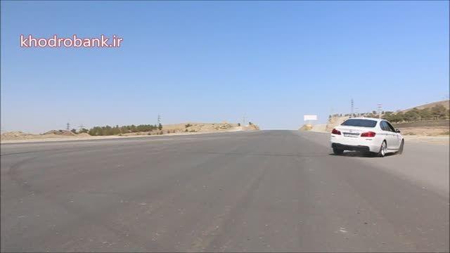 دونات و دریفت با بی ام و 528i و مرسدس بنز E250 در تهران