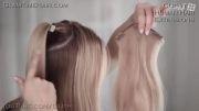 مدل بافت موی دم اسبی برای کریسمس