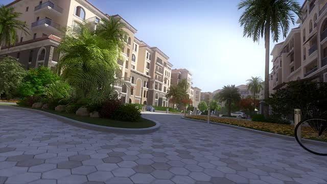 انیمیشن معماری شهرک مسکونی ویلایی