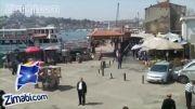 گشت و گزار و پیاده روی در خیابان های استانبول ترکیه