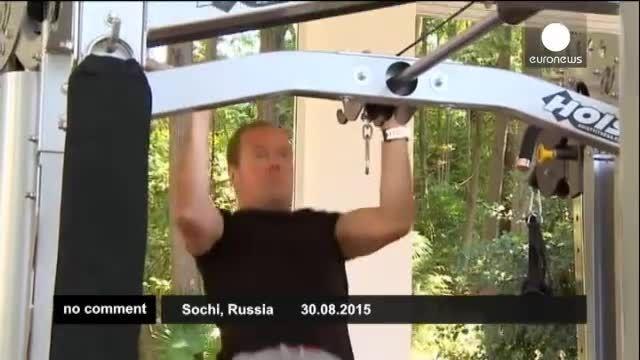 ورزش و تفریح به سبک پوتین و مدودوف