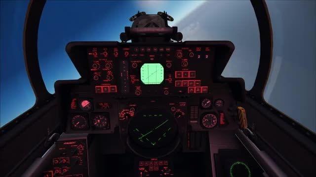 شلیک موشک فونیکس توسط تامکت در شبیه ساز پرواز