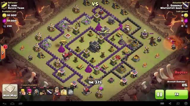 Clash of Clans - TH9 - Full Hog - War 63 vs Russia Team