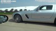 درگ شوی Corvette Z06 و مرسدس SLS AMG Xtra Power Kompressor