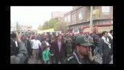 تشییع شهدای گمنام  و سینه زنی در شهر صوفیان
