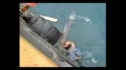 غرق شدن سكوی نفتی