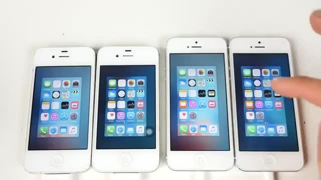 ویدیو مقایسه iOS 9.1 beta با iOS 9.0 در آیفون 4s و 5