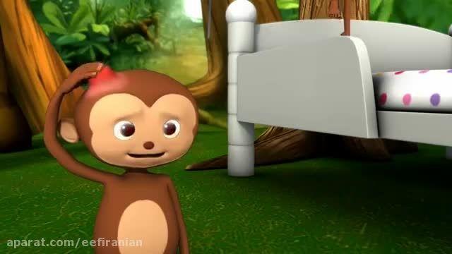 شعر و موزیک کودکانه انگلیسی آموزش اعداد با میمونها