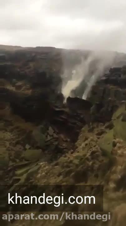 تاثیر طوفان بر آبشار