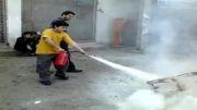 آموزش کپسول آتش نشانی