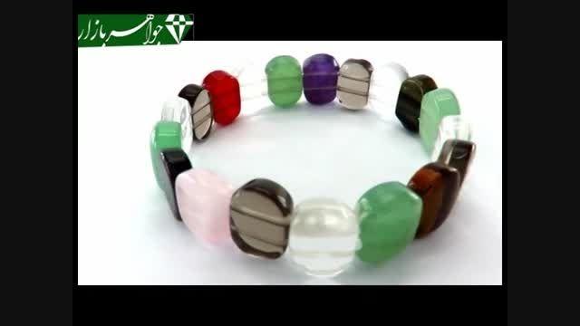 دستبند چندنگین سنگ درمانی زیبا زنانه - کد 6292