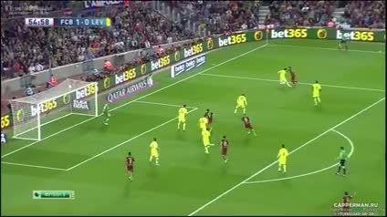 بارسلونا 4 لوانته 1 ، گل های بازی