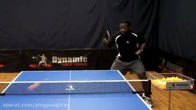 آموزش پینگ پنگ بک هند لوپ در تنیس روی میز