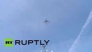 هواپیمای تیم المان بر فراز شهر برلین