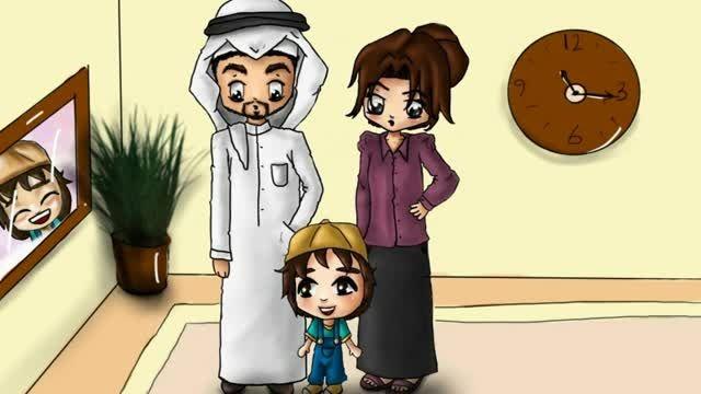 کارتون عربی سامر ثامر همراه با کتاب-سایت عربی برای همه