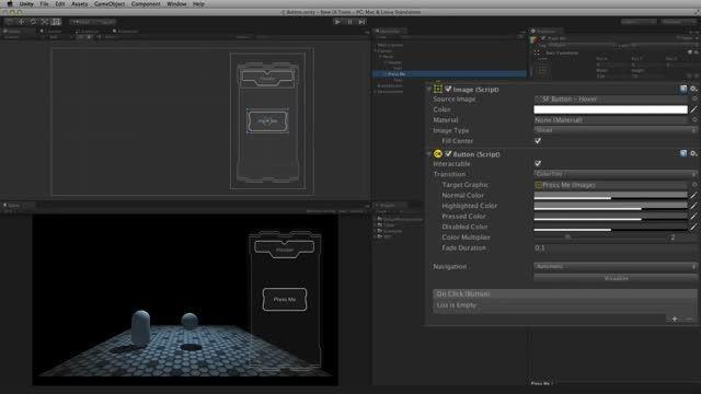 آموزش UI Tool در یونیتی 4 و 5-بخش 3-UI Button