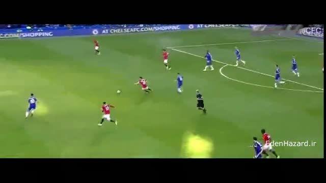 هایلایت ادن هازارد مقابل منچستر یونایتد،گلزنی هازارد