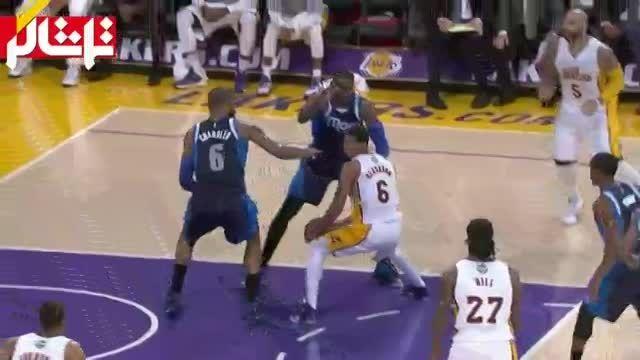 خلاصه بسکتبال : دالاس - لس آنجلس لیکرز ( ویدیو )