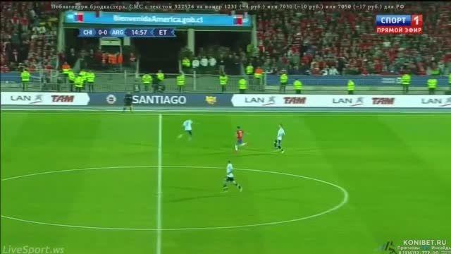 حرکت تماشایی الکسیس سانچز مقابل آرژانتین (کوپا آمریکا)