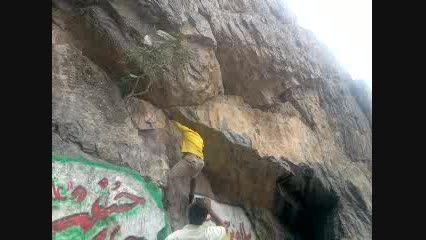 صخره نوردی در بند دره بیرجند