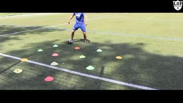 آموزش کنترل توپ و ضربات ایستگاهی در فوتبال
