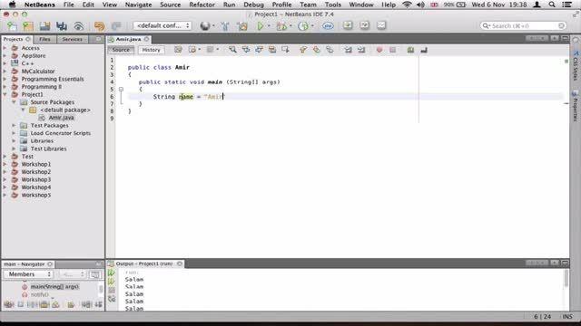 ۳- متغیرها در جاوا Java