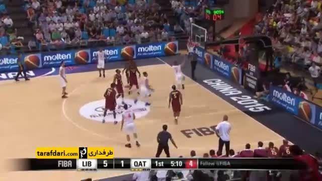 بسکتبال جام ملت های آسیا؛ قطر 105-100 لبنان