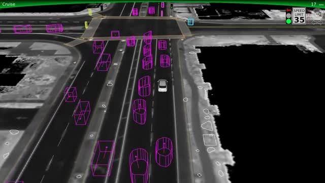 بازسازی تصادف خودروی بدون راننده گوگل