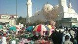 نمای بیرونی مسجد قبا (ghoba) مدینه منوره