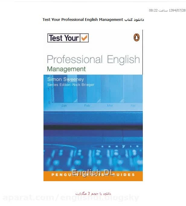 دانلود کتاب Test Your Professional English Management
