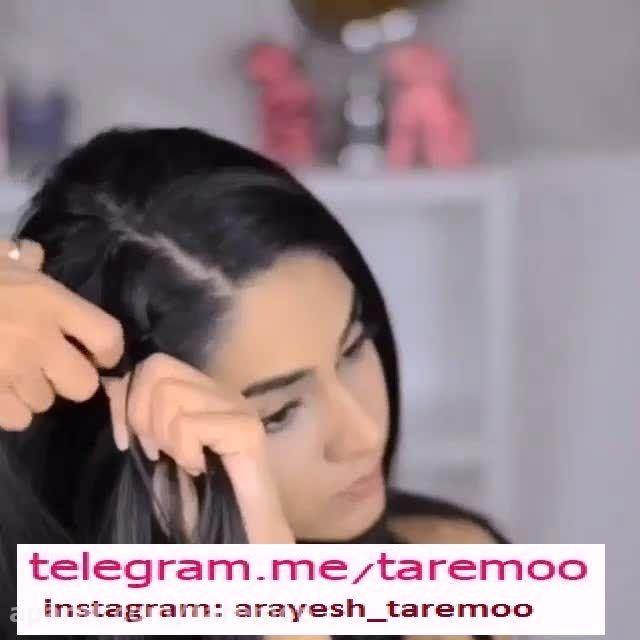 بافت کنار مو زیبا در تار مو