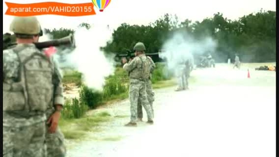 شلیک با اسلحه RPG به صورت صحنه آهسته و اسلوموشن
